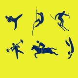 Sport figures Royalty Free Stock Images