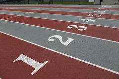 Sport filed lines Royalty Free Stock Images