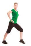 sport Fille flexible de forme physique faisant étirant l'exercice Image stock