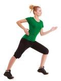 sport Fille flexible de forme physique faisant étirant l'exercice photo libre de droits