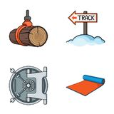 Sport, finance and other web icon in cartoon style.fitness, hobby icons in set collection. Sport, finance and other  icon in cartoon style.fitness, hobby icons Stock Image