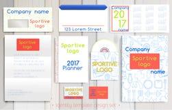 Sport firmy korporacyjnej tożsamości szablonu projekta set Zdjęcia Royalty Free