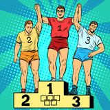 Sport first second and third place on the podium Royalty Free Stock Images