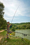 Sport fishing Stock Photo