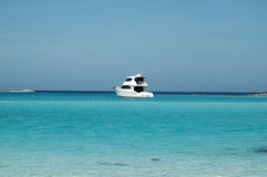 Sport Fishing Boat on Caribbean Sea stock image