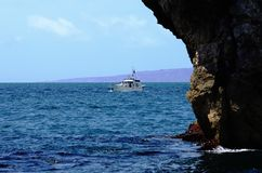 Sport fishing boat on the sea Stock Images