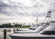 Sport Fishing Boats Marina Royalty Free Stock Photography