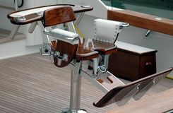 Sport Fishing Chair. Photographed a sport fishing chair from a charter boat in Florida Royalty Free Stock Image
