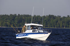 Sport Fishing Lake Champlain off Valcour Island Stock Photos