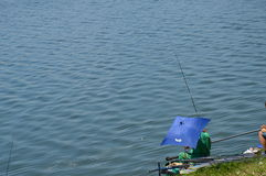 Sport fishing of the lake Modrac Royalty Free Stock Images