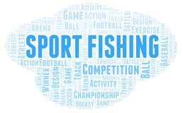 Sport Fishing word cloud. Wordcloud made with text only vector illustration