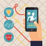 Sport fitness application. Running app. Stock Image