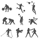 Sport fitness charging isolates health set 1 Stock Image