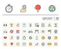 Sport and fitness color vector icons Royalty Free Stock Photos