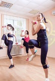 Sport and Fitness Concepts. Group of Young Ladies Having Fitness Stock Images