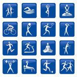 Sport_fitness_icons. Pictogram with sport and fitness  activities. Vector illustration Royalty Free Stock Image