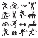 Sport fitness icons. Royalty Free Stock Photography