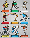 Sport and fitness icons set Royalty Free Stock Photo