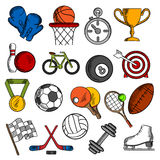 Sport and fitness icons set Stock Images