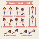 Sport and fitness infographics vector illustration