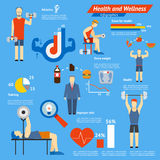 Sport and fitness infographics Stock Images