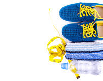 Sport and fitness lifestyle and objects concept Stock Photography