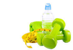Sport and fitness lifestyle and objects concept Royalty Free Stock Photo