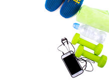 Sport and fitness lifestyle and objects concept Stock Photos
