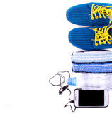 Sport and fitness lifestyle and objects Royalty Free Stock Photo