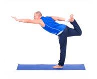 Sport fitness man doing yoga exercise Stock Photography