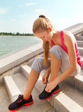 Sport fitness runner woman Royalty Free Stock Photos