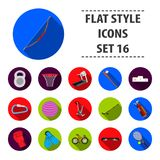 Sport and fitness set icons in black style. Big collection of sport and fitness vector symbol stock illustration Royalty Free Stock Photo