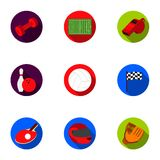 Sport and fitness set icons in flat style. Big collection of sport and fitness vector symbol stock illustration Royalty Free Stock Photos