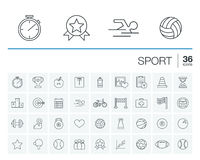 Sport and fitness vector icons Royalty Free Stock Photo