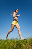 Sport fitness woman running. Young sport fitness woman running Stock Photo