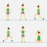 Sport Fitness Woman Set Exercise Workout Girl Royalty Free Stock Photos