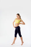 Sport fitness woman, young healthy girl doing exercises, full le Royalty Free Stock Images