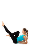 Sport fitness woman, young healthy girl doing exercises. Royalty Free Stock Photo