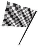 Sport flag. Black and white checker flag Stock Photography