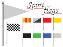 Sport flags against white Stock Image