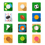 Sport flat icon Stock Images