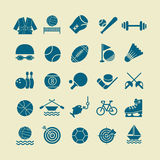 Sport flat  icon set for web and mobile set01 Stock Image