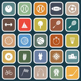 Sport flat icons on blue background Stock Photo