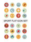 Sport flat icons Stock Image