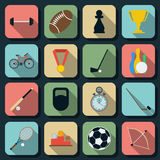 Sport flat vector icons Royalty Free Stock Image
