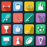 Sport flat web icons Royalty Free Stock Image