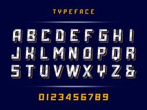Sport font. Vector alphabet with latin letters and numbers.  Stock Photography