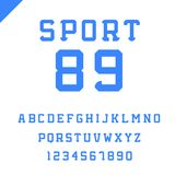 Sport font. Vector alphabet with latin letters and numbers. Sport font. Vector alphabet with latin letters and numbers Stock Photography