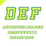 Sport font. Vector alphabet with latin letters and numbers. Sport font. Vector alphabet with latin letters and numbers Royalty Free Stock Photography