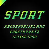 Sport font. Vector alphabet with latin letters and numbers. Sport font. Vector alphabet with latin letters and numbers Stock Photo